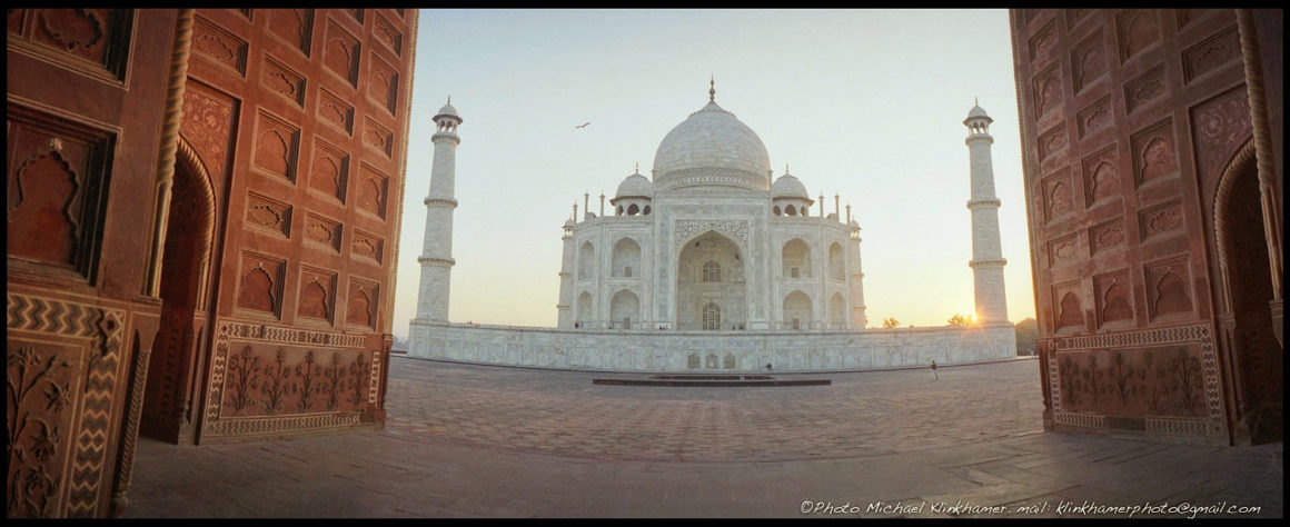 The Taj Mahal in India photo with an unsuals perspective by Michael Klinkhamer