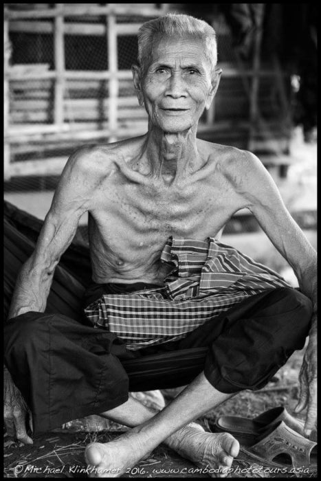 Old Khmer man in Cambodia